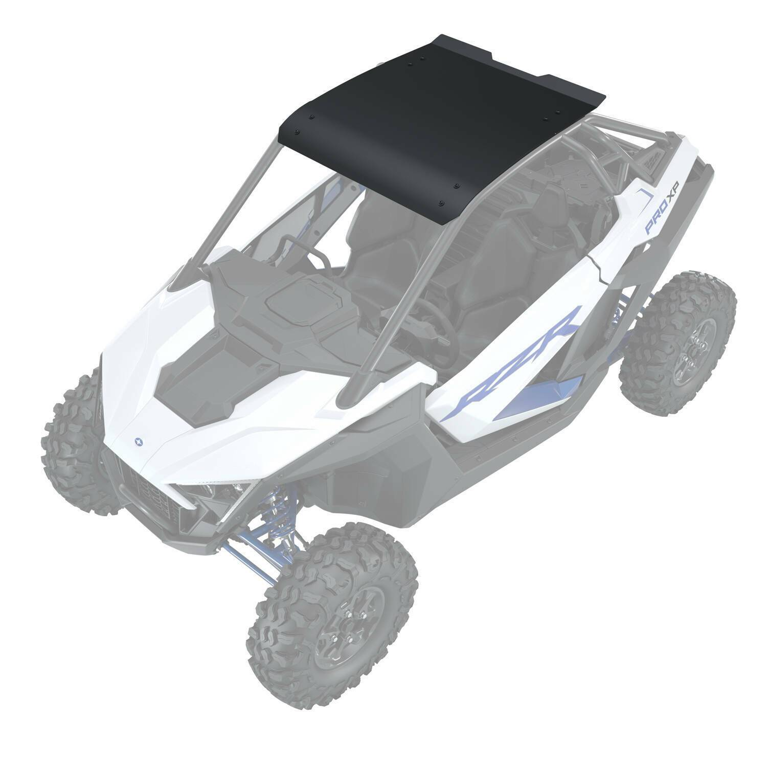 Polaris 2883743-458 Matte Black ABS Plastic Roof 2020 Pro Premium Ultimate RZR XP aftermarket replacement Vehicles & Parts > Vehicles > Motor Vehicles > Off-Road and All-Terrain Vehicles > ATVs & UTVs Polaris