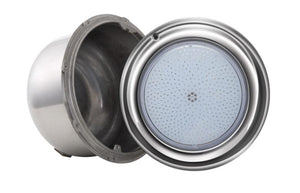 Pool Tone® WHITE LED Pool Light 12 or 120 Volts SS Rim 15 - 150 FT (11 inch diameter) Home & Garden > Pool & Spa PoolTone