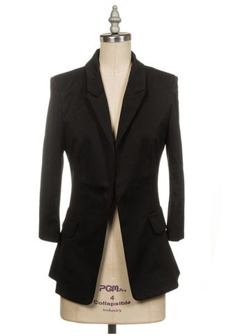 Blaze Black 3/4 Sleeve Blazer