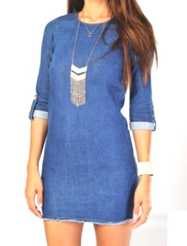 Veronica Denim Blue Dress