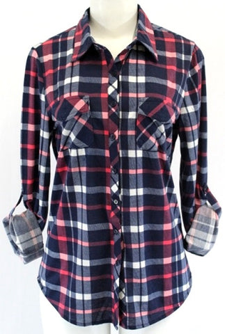 Weekend Plaid Long Sleeve Button Up