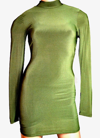 Beauti Green Bodycon Open Back Dress