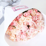 Romantic light pink roses, wrapped beautifully, Beautiful fresh flowers, quality goods and gifts. Free delivery within Auckland and North Shore. Birthday, anniversary, congratulations, new baby, sympathy, corporate, client gifts.