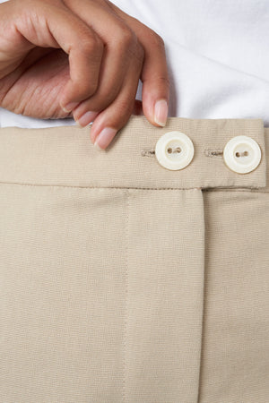 Straight Fit Trouser in Sand