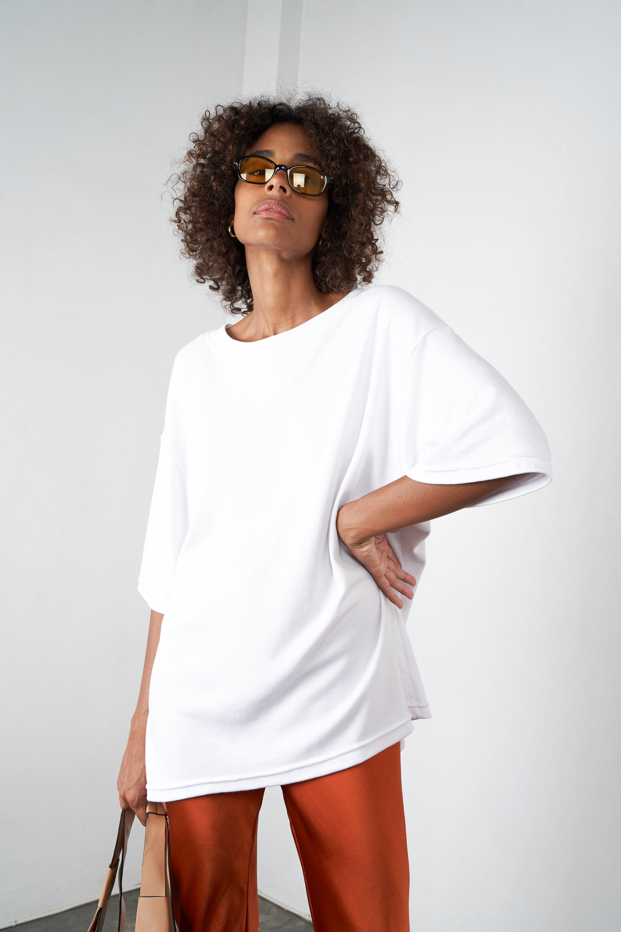 Arthur Apparel AW20 Womenswear Australian Fashion Cotton Oversized Tshirt White