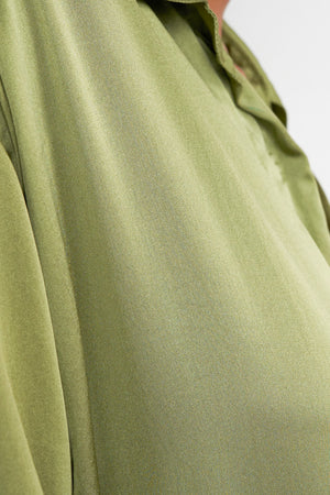 Arthur Apparel AW20 Womenswear Australian Fashion Oversized Silk Shirt Olive Green