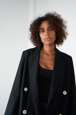 Arthur Apparel AW20 Womenswear Australian Fashion Oversized Coat Jacket Black