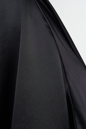 Arthur Apparel AW20 Womenswear Australian Fashion Silk Midi Skirt Licorice Black