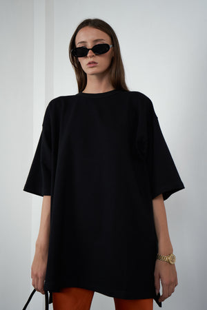 Oversized Jumper Tee in Licorice
