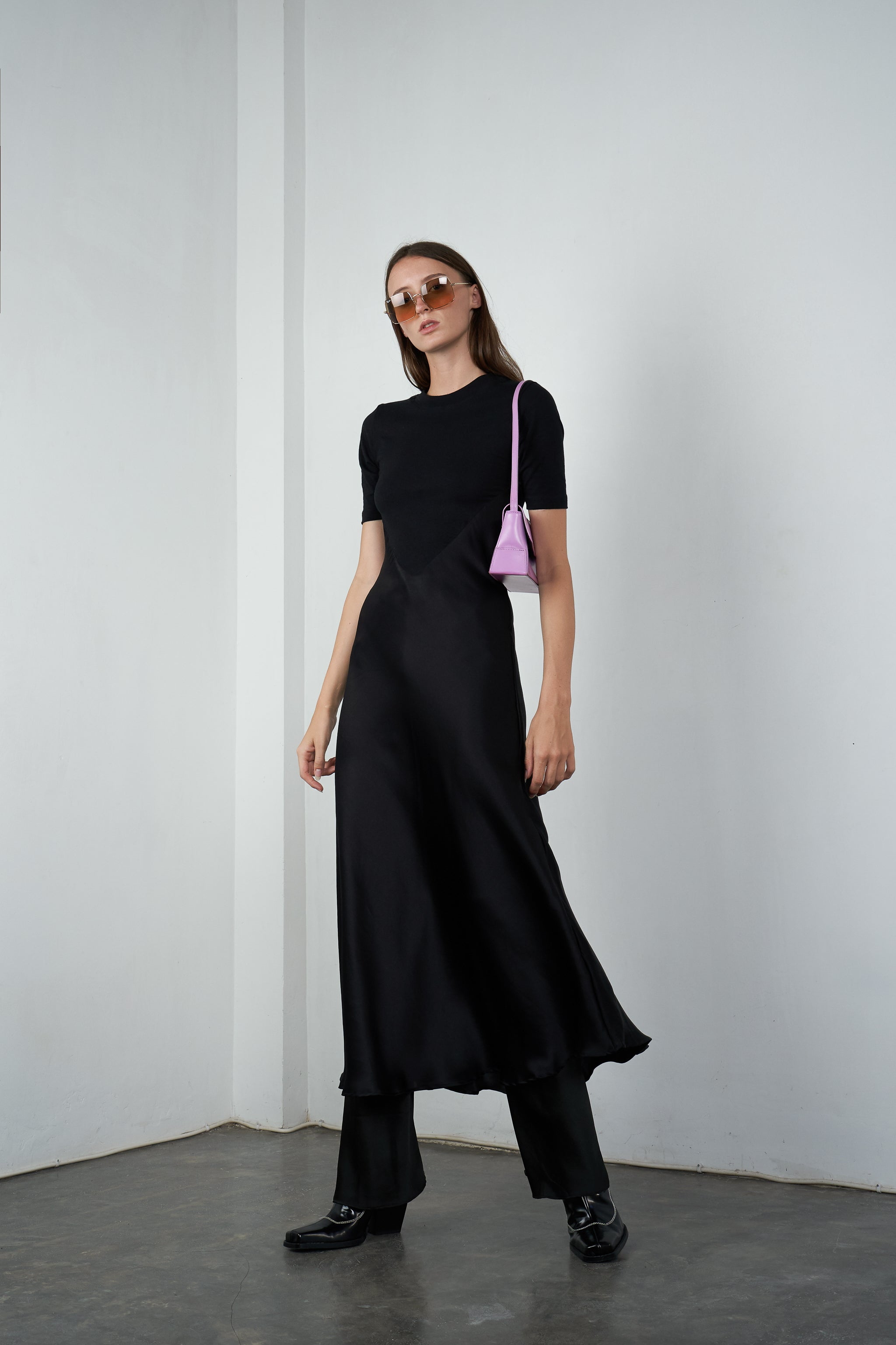 Silk Fusion Midi in Licorice