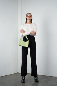 Relaxed Knitted Pants in Licorice