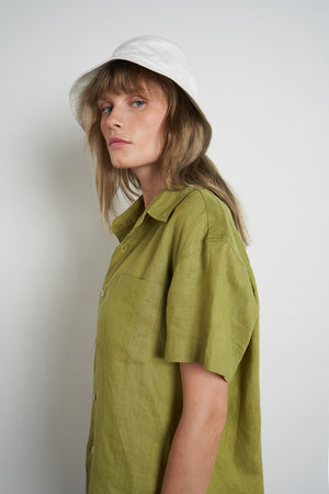 Linen Zana Shirt in Apple