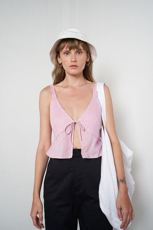 Bonnie Tie Top in Fairy Floss