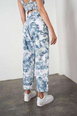 Workshop Pant in Sky Tie Dye