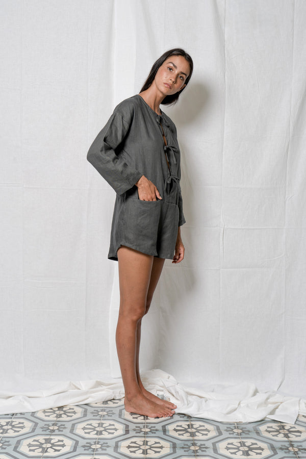 Arthur Apparel minimalist playsuit with long sleeves