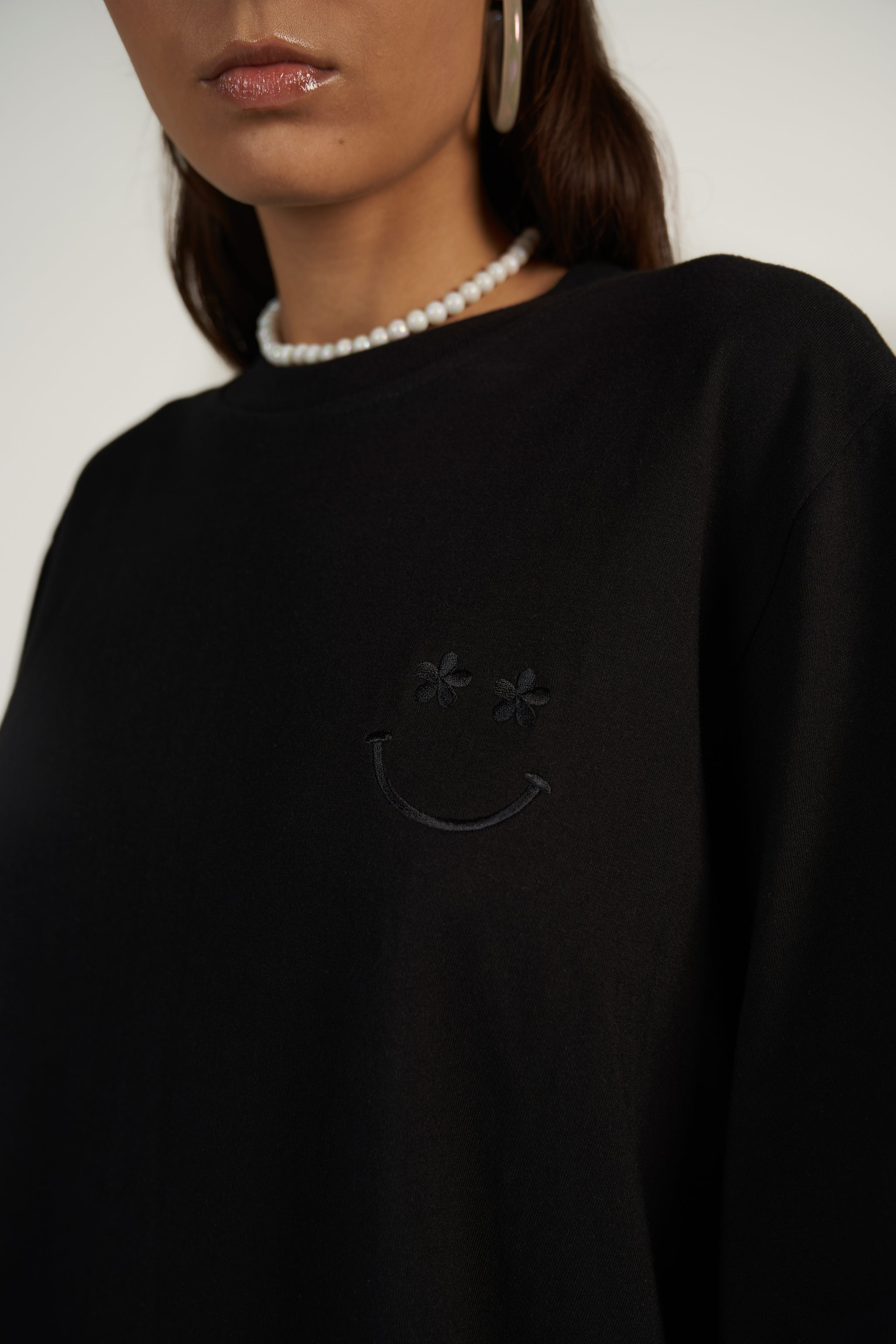 Tall Happy Tee in Black