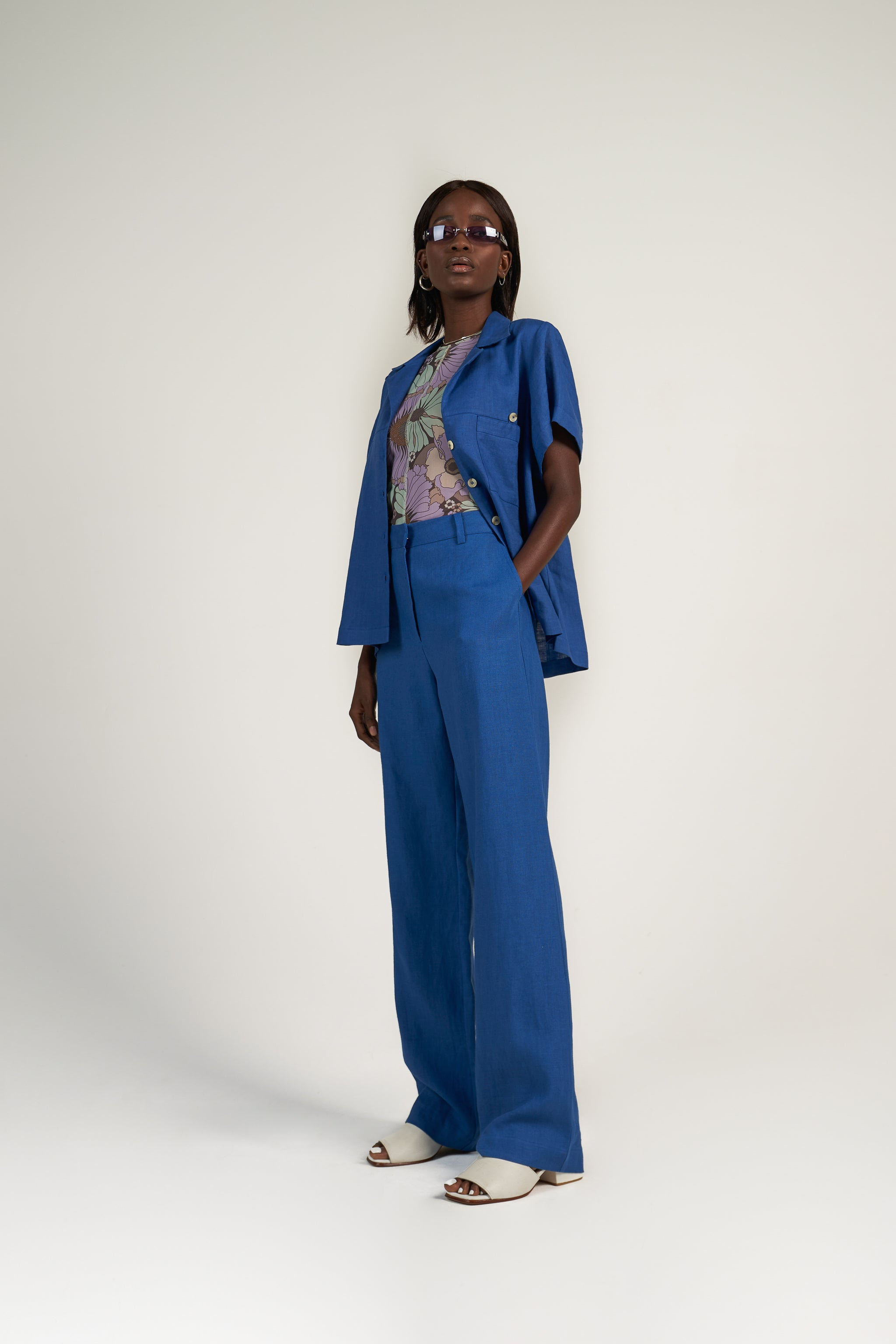 TALL TAILORED PANT in Cobalt