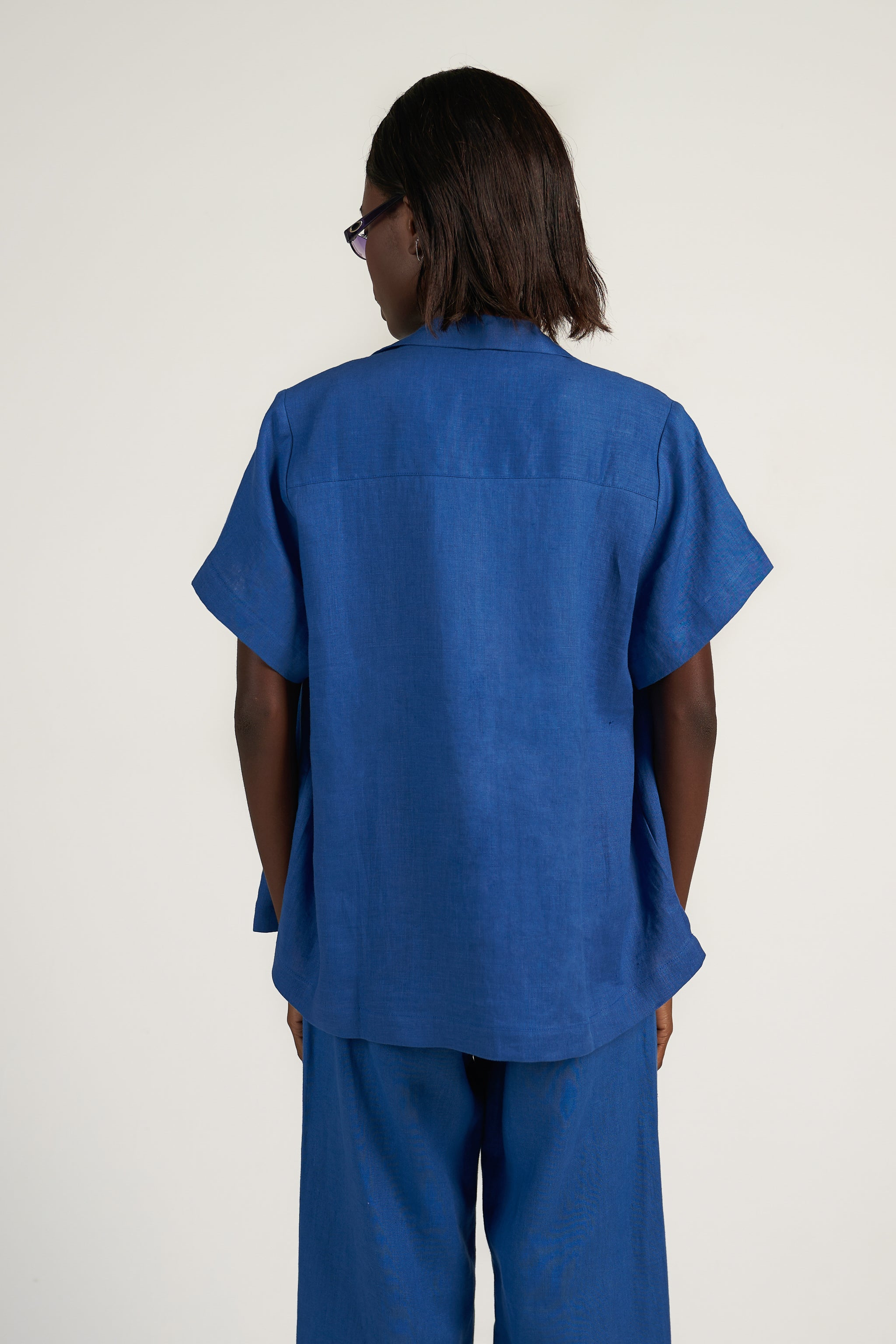 BOX SHIRT in Cobalt