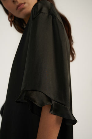 BABY FRILL MINI in Black