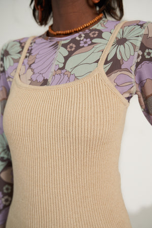 BODY TANK in Beige