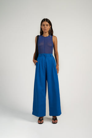 Skins Sleeveless Top in Cobalt