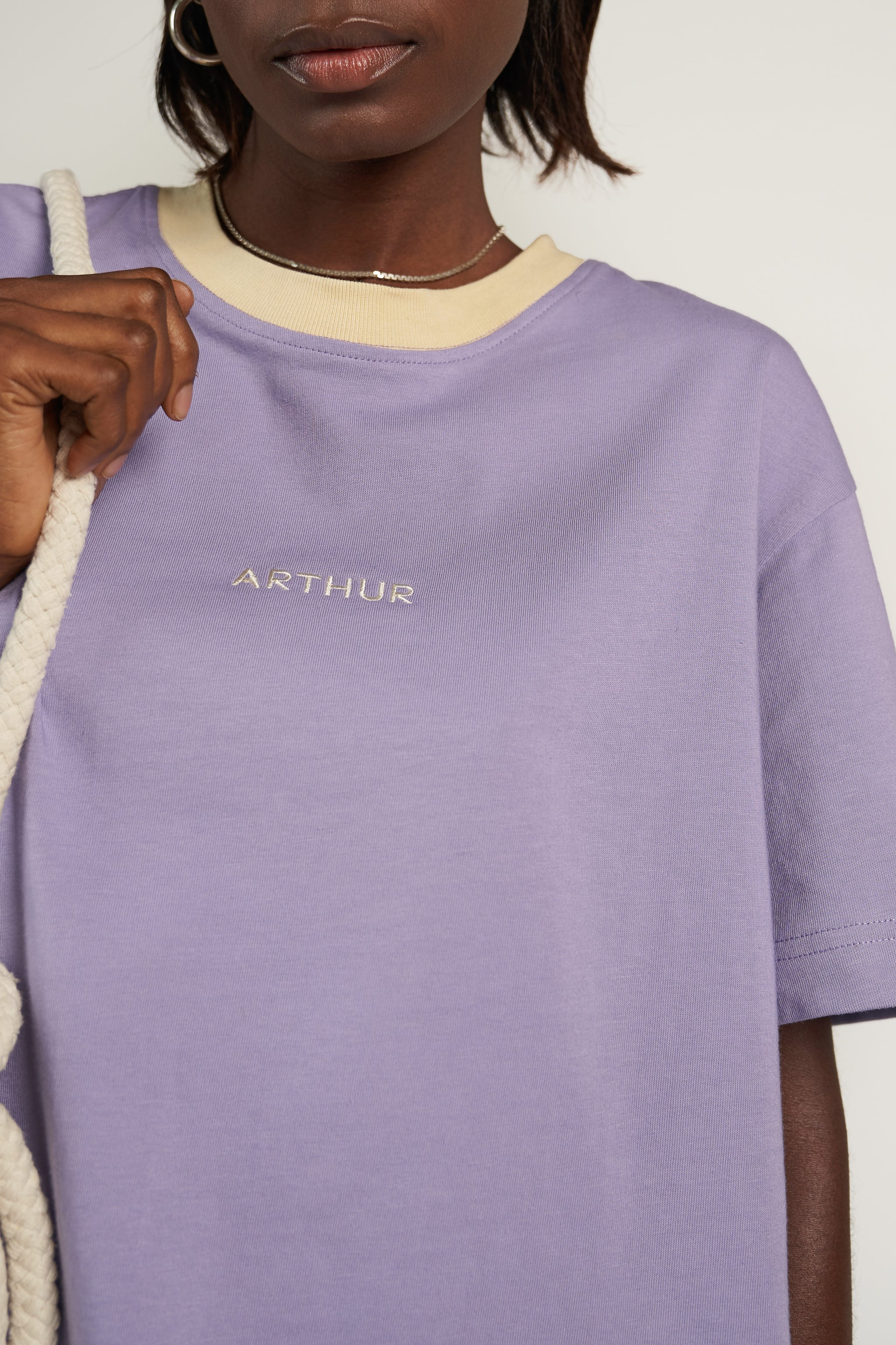 SHORT LOGO TEE in Ultraviolet