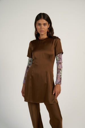 Fitting Mini Dress in Choccy
