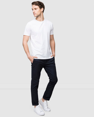 Wayver Slim Stretch Chino Pants in Navy Best Selling Men's Pant on The Iconic