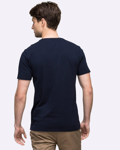 wayver crew neck navy t-shirt cotton men's