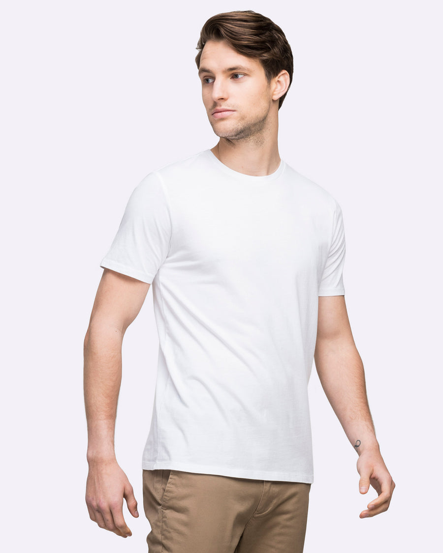 wayver white t-shirt men's crew neck best seller cotton