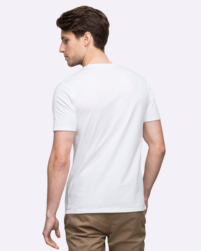 wayver white crew neck t-shirt free shipping