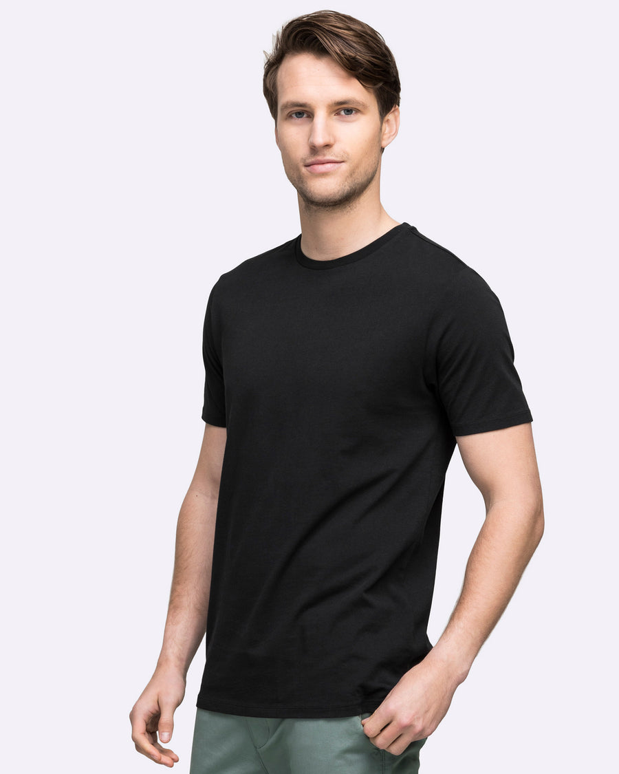 Black men's wayver tee shirt t-shirt