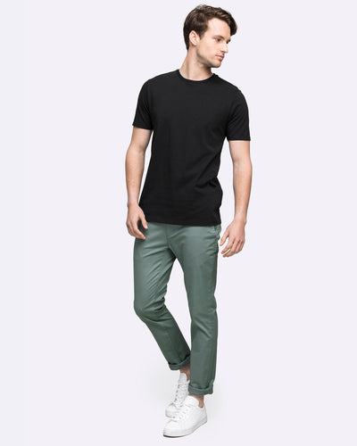 wayver Australia men's black cotton crew neck t-shirt