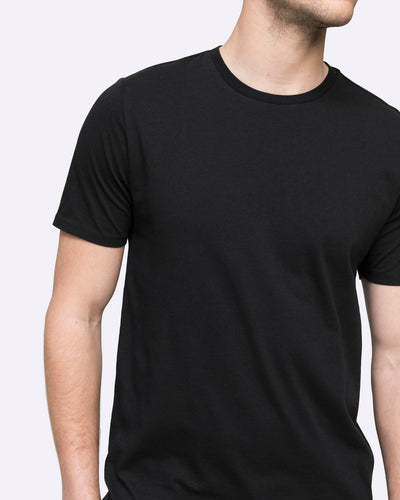 cotton men's black wayver tee shirt crew neck australia t-shirt