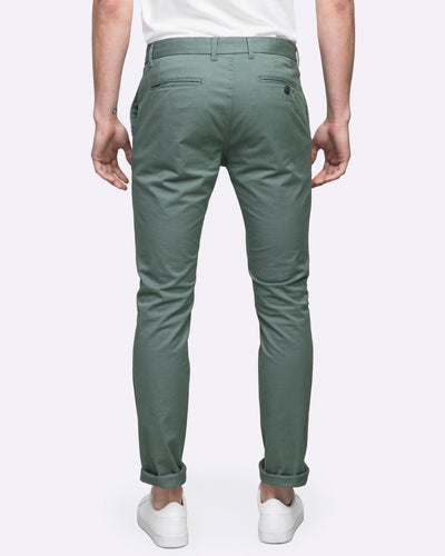 men's slim fit pants chino green wayver