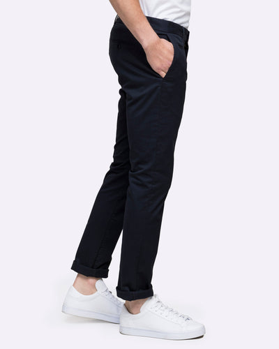 Wayver mens navy slim chino pants