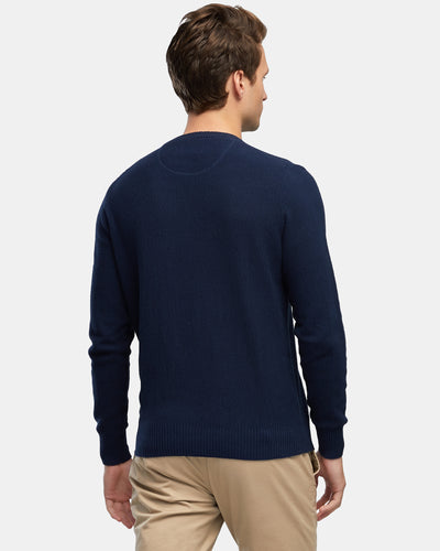Wayver Originals Men's Textured Cotton Knit - Navy
