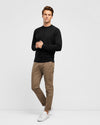 Men's Black Cotton Crew Neck Knit - Wayver Originals