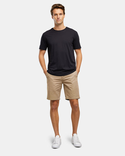 COTTON STRETCH CHINO SHORTS