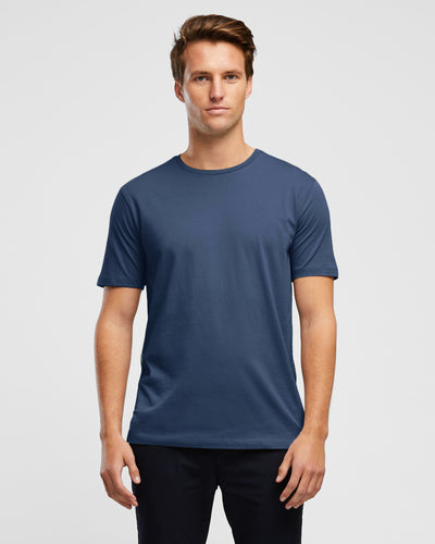Regular Fit Crew Neck T-Shirt by Wayver - Vintage Indigo