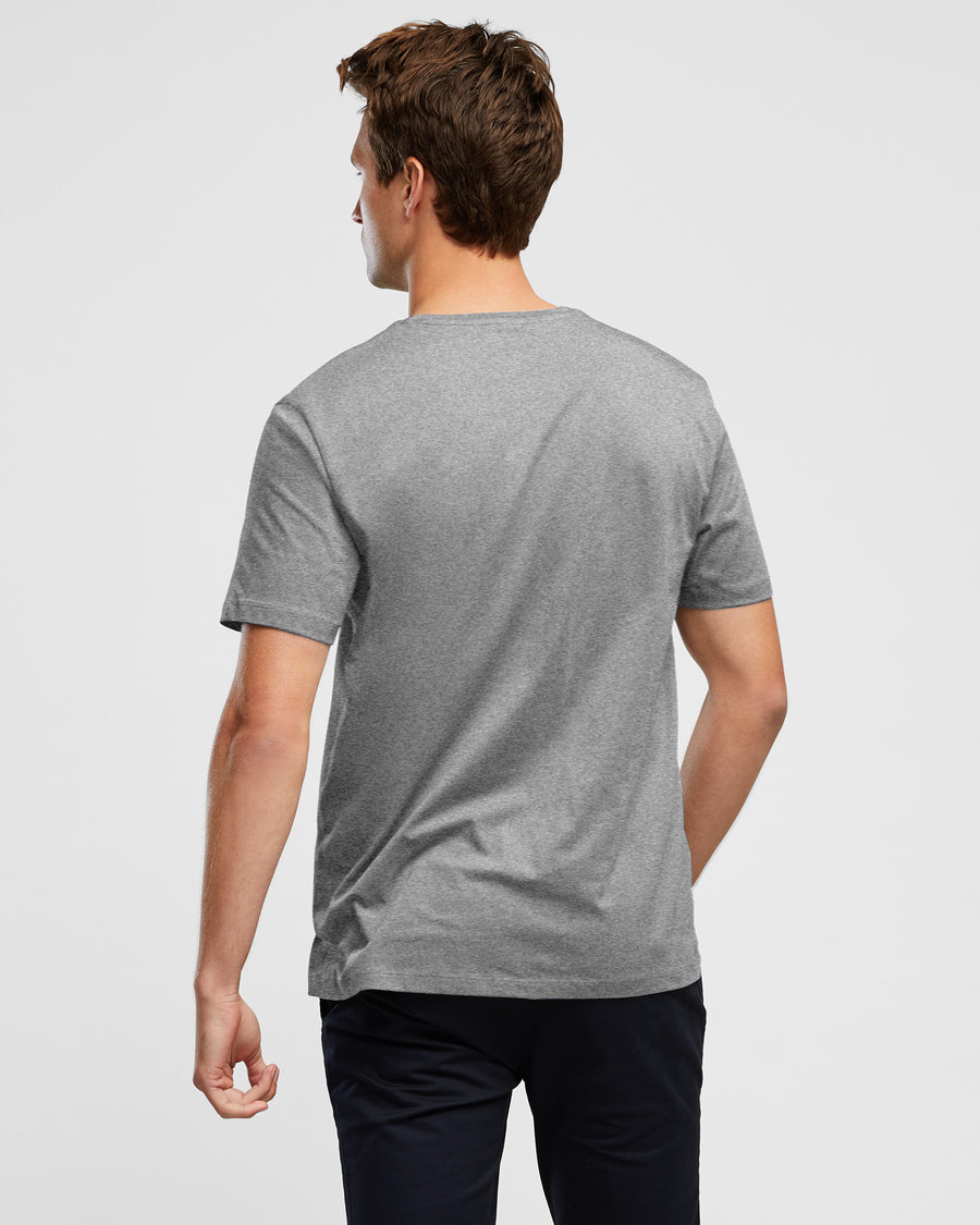 Wayver Grey Marl Crew Neck Men's T-Shirt