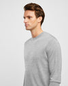 Men's Cotton Light Grey Crew Neck Knit - Wayver Originals