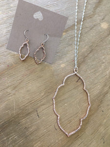Enhance sets-JEWELRY-Urbanista-Silver w Rose Gold Bling-The Twisted Chandelier