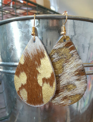 Crackle Gold Cowhide