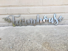 Load image into Gallery viewer, Custom Metal Script Words-Home Goods-Diamond in the rough-Gift, HomeGoods, Metal-Polished-Farmhouse-The Twisted Chandelier
