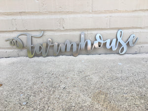 Custom Metal Script Words-Home Goods-Diamond in the rough-Gift, HomeGoods, Metal-Polished-Farmhouse-The Twisted Chandelier