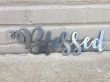 Load image into Gallery viewer, Custom Metal Script Words-Home Goods-Diamond in the rough-Gift, HomeGoods, Metal-Polished-Blessed-The Twisted Chandelier