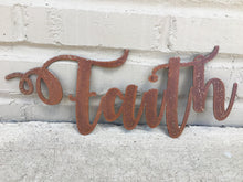 Load image into Gallery viewer, Custom Metal Script Words-Home Goods-Diamond in the rough-Gift, HomeGoods, Metal-Rusted-Faith-The Twisted Chandelier