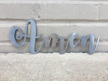 Load image into Gallery viewer, Custom Metal Script Words-Home Goods-Diamond in the rough-Gift, HomeGoods, Metal-Polished-Amen-The Twisted Chandelier
