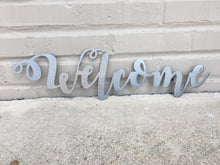 Load image into Gallery viewer, Custom Metal Script Words-Home Goods-Diamond in the rough-Gift, HomeGoods, Metal-Polished-Welcome-The Twisted Chandelier